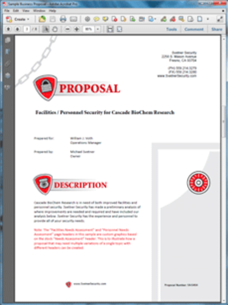 A 'Security' Proposal Pack Theme