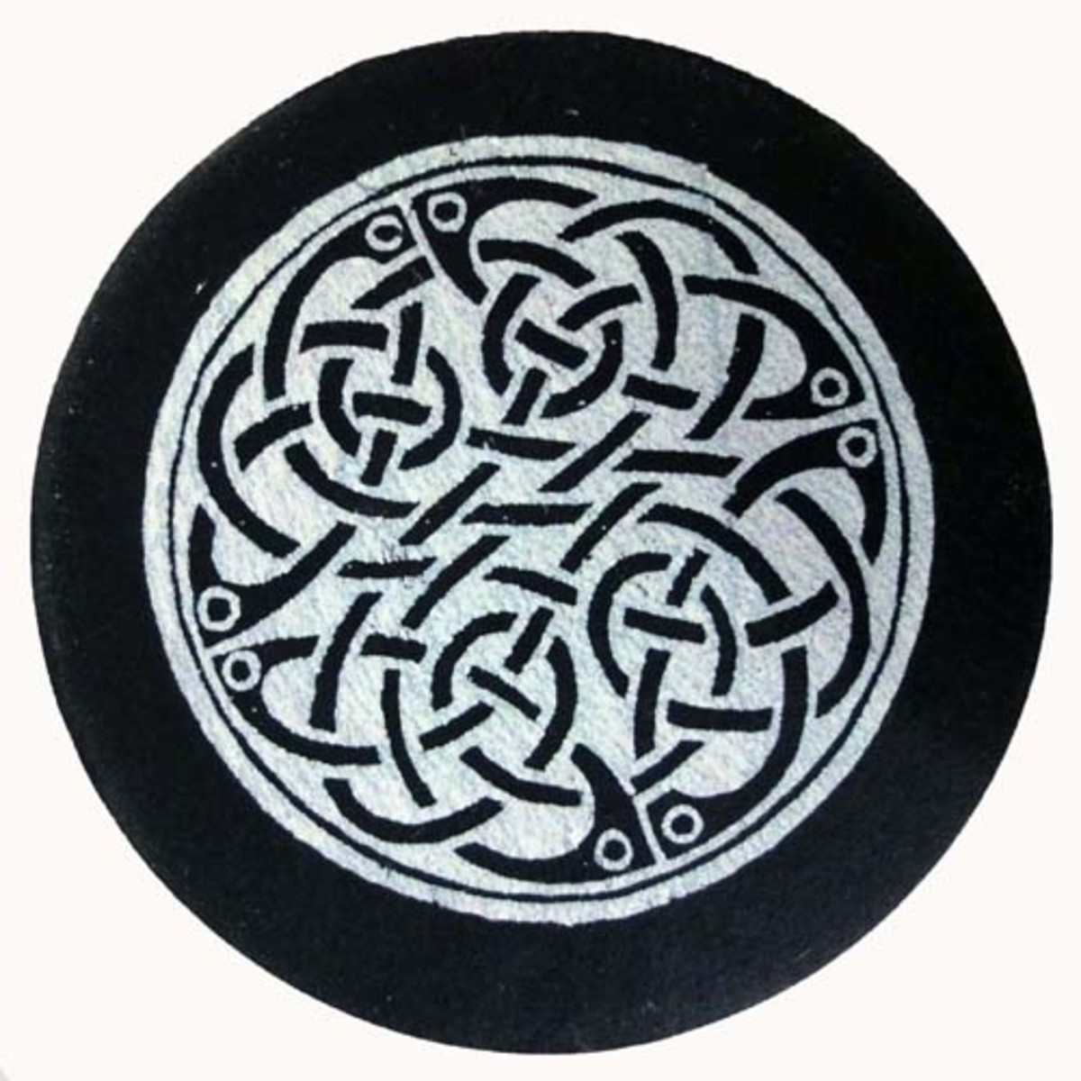 Slate coaster of Celtic design