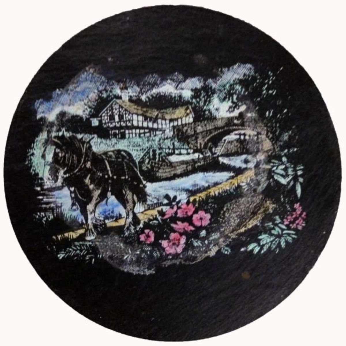 Coloured Slate Coaster