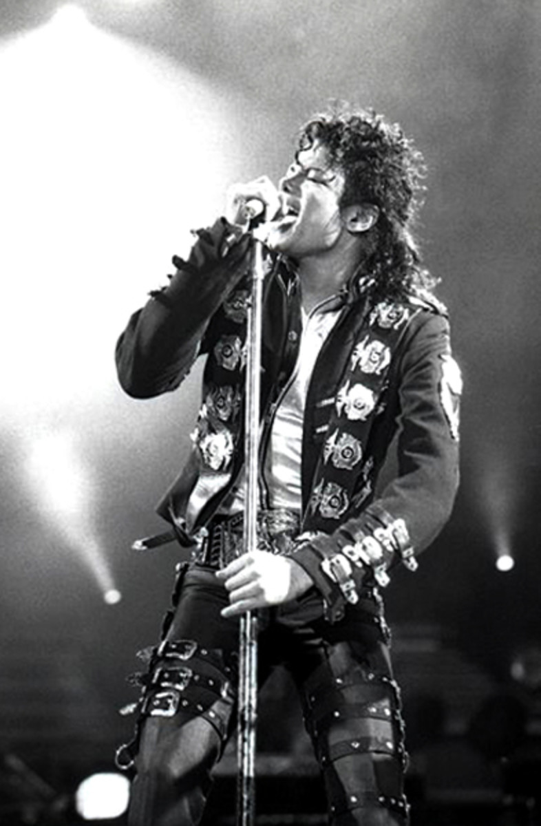 """Bad"" Tour - Michael Jackson in 1988."