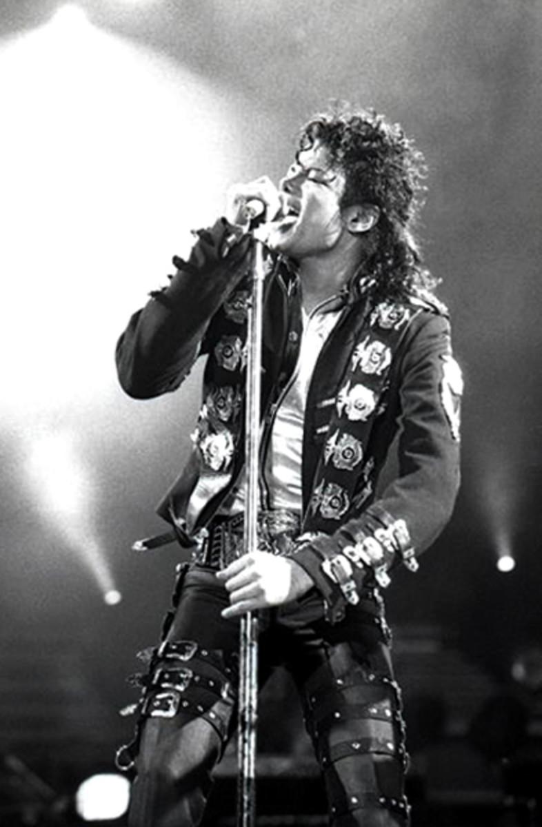 """Bad"" Tour - Michael Jackson in 1988."