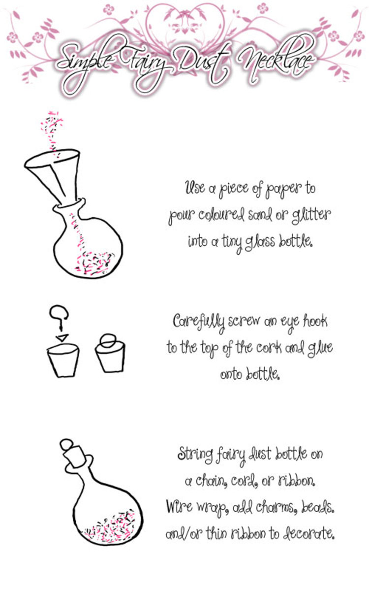 How to make a fairy/faery dust necklace.