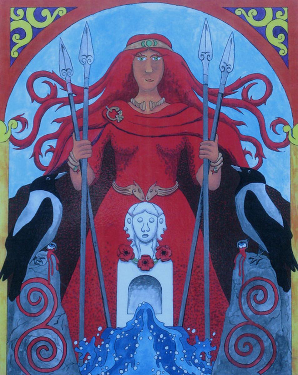 Painting of Celtic Goddess Morrigan