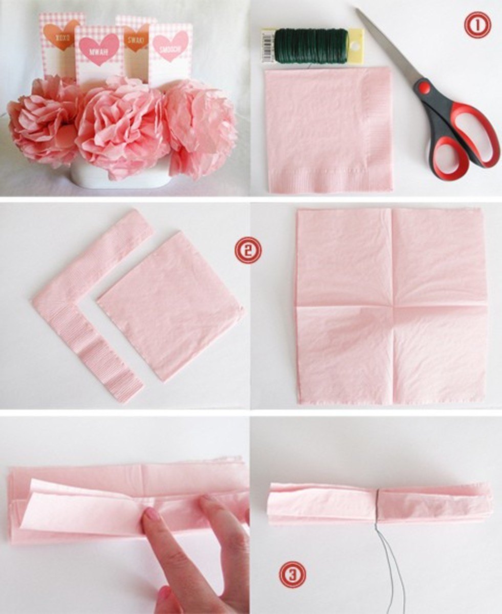 How to make a flower out of paper napkins flowers healthy instructions for a large flower open out your 4 paper napkins mightylinksfo