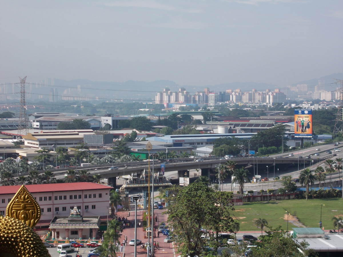 View of KL from the Batu caves