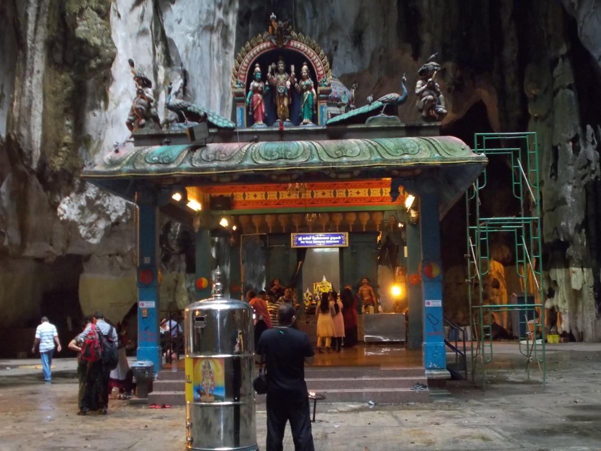 A temple inside the Batu cave