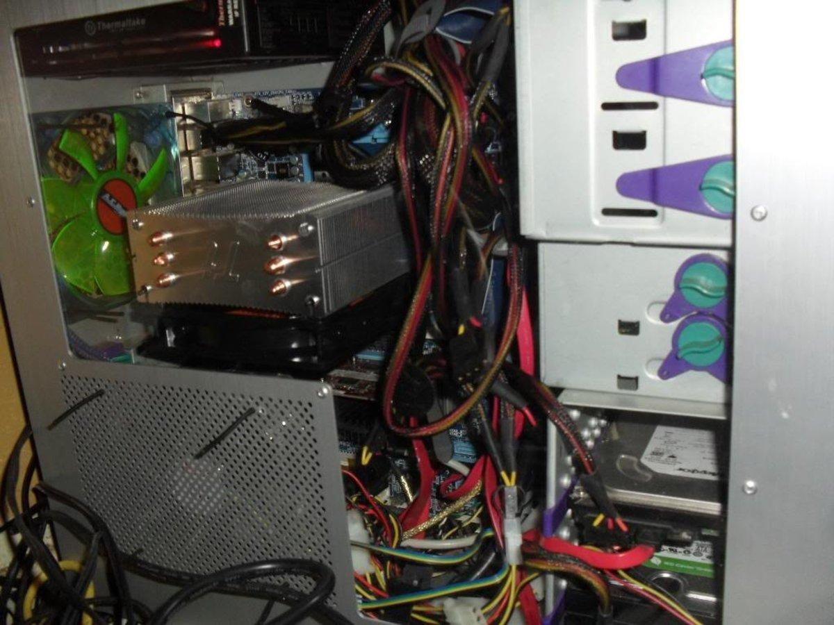 An example of an assembled computer.