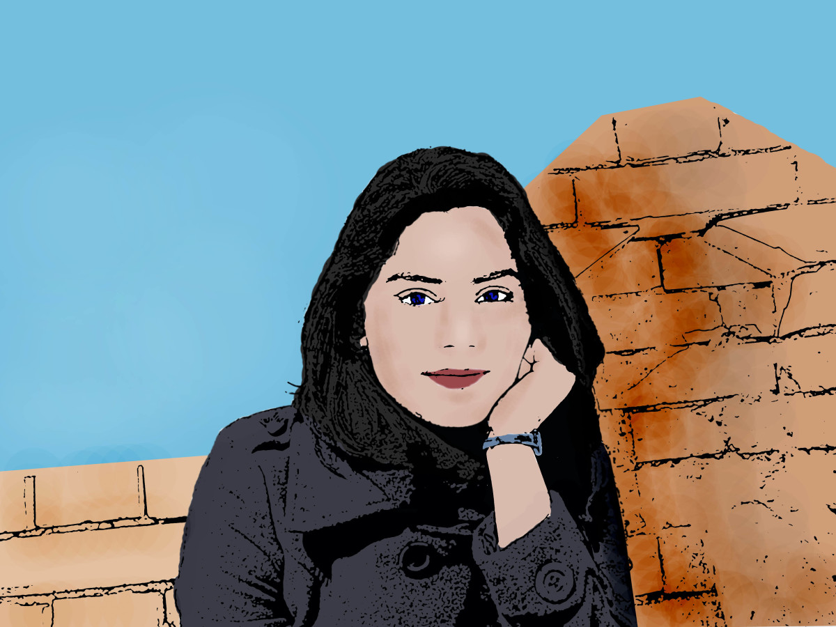 A cartoon created from a photo in Photoshop