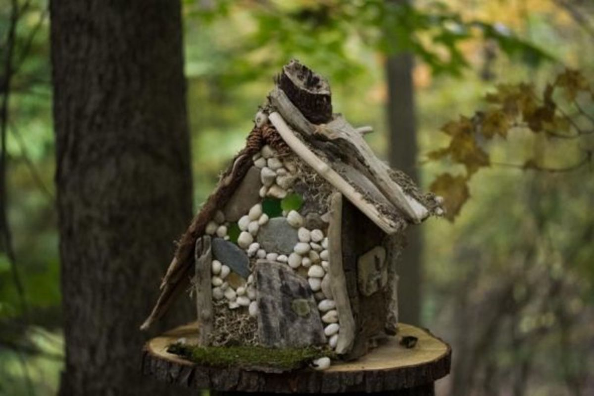 Rustic and enchanting fairy house