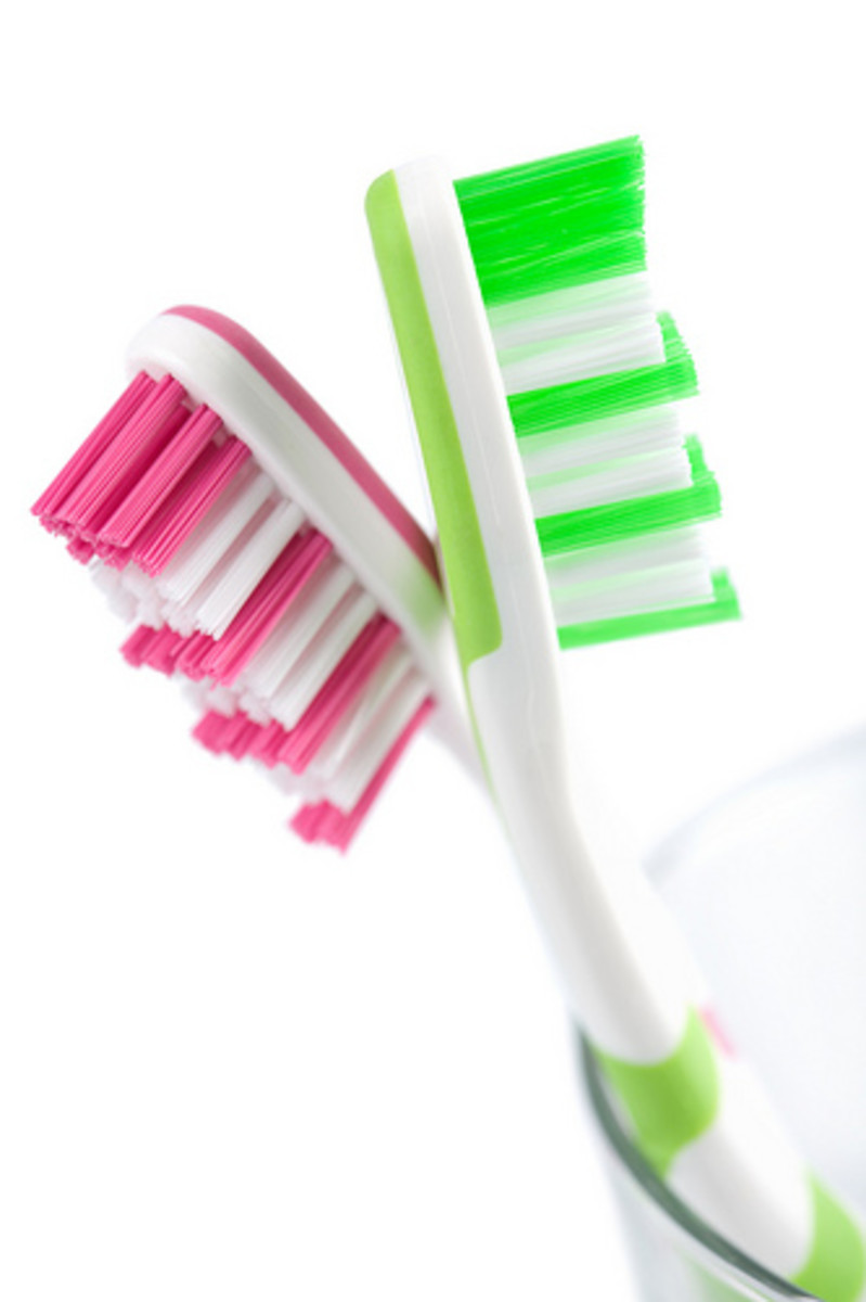 Your toothbrush is your friend!