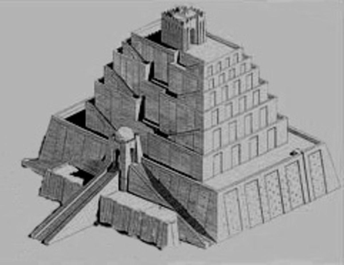 One of the many suggested designs for the Tower of Babel.
