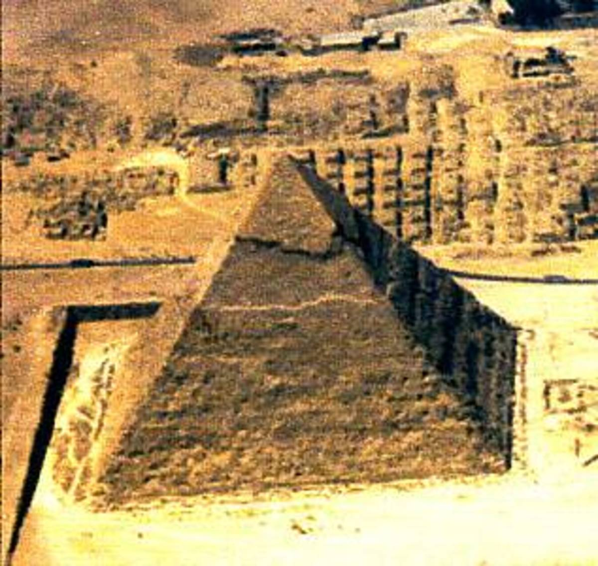 The Great Pyramid from the air.