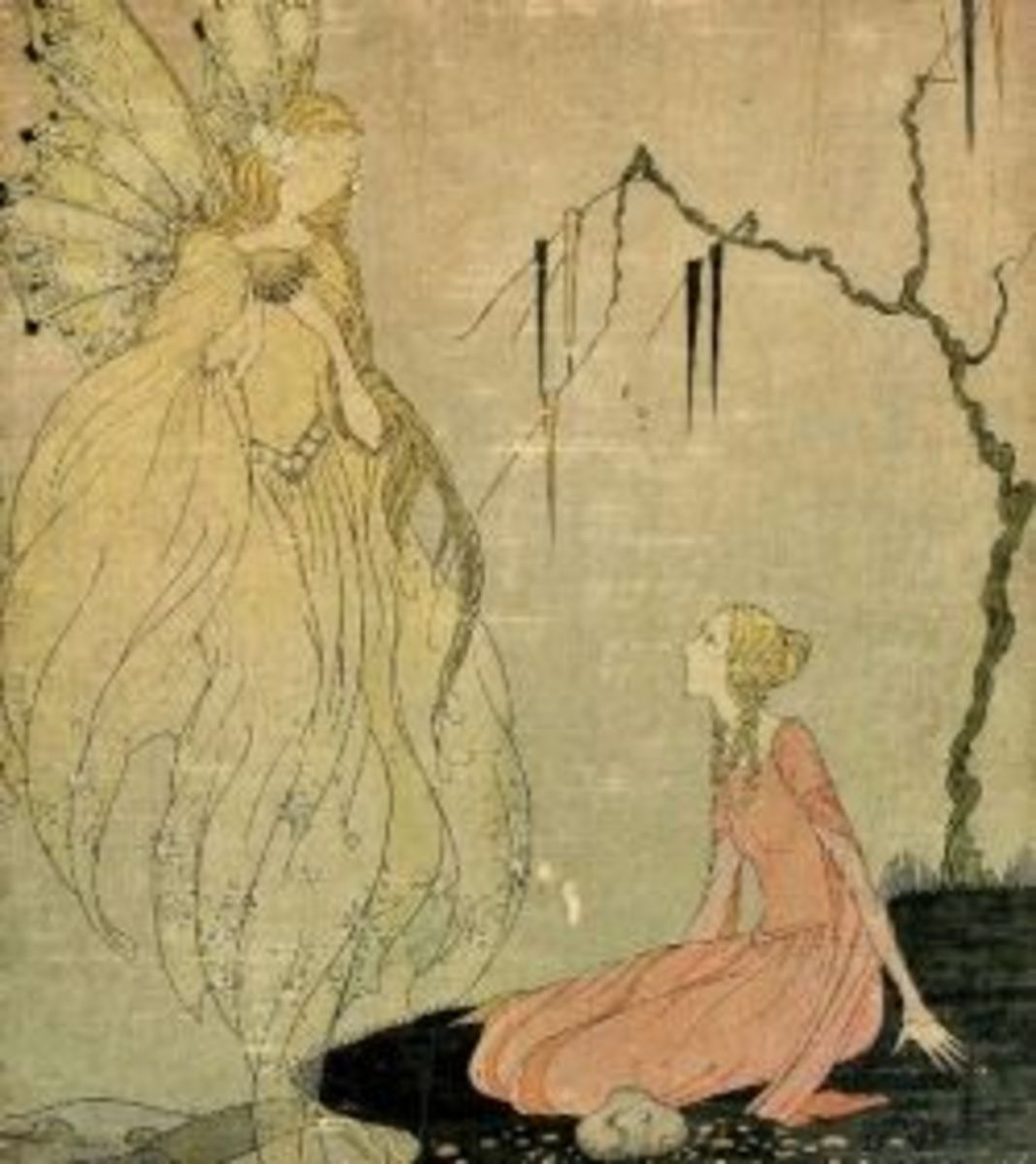 The cover page of Old French Fairy Tales, illustrated by Virginia Frances Sterrett