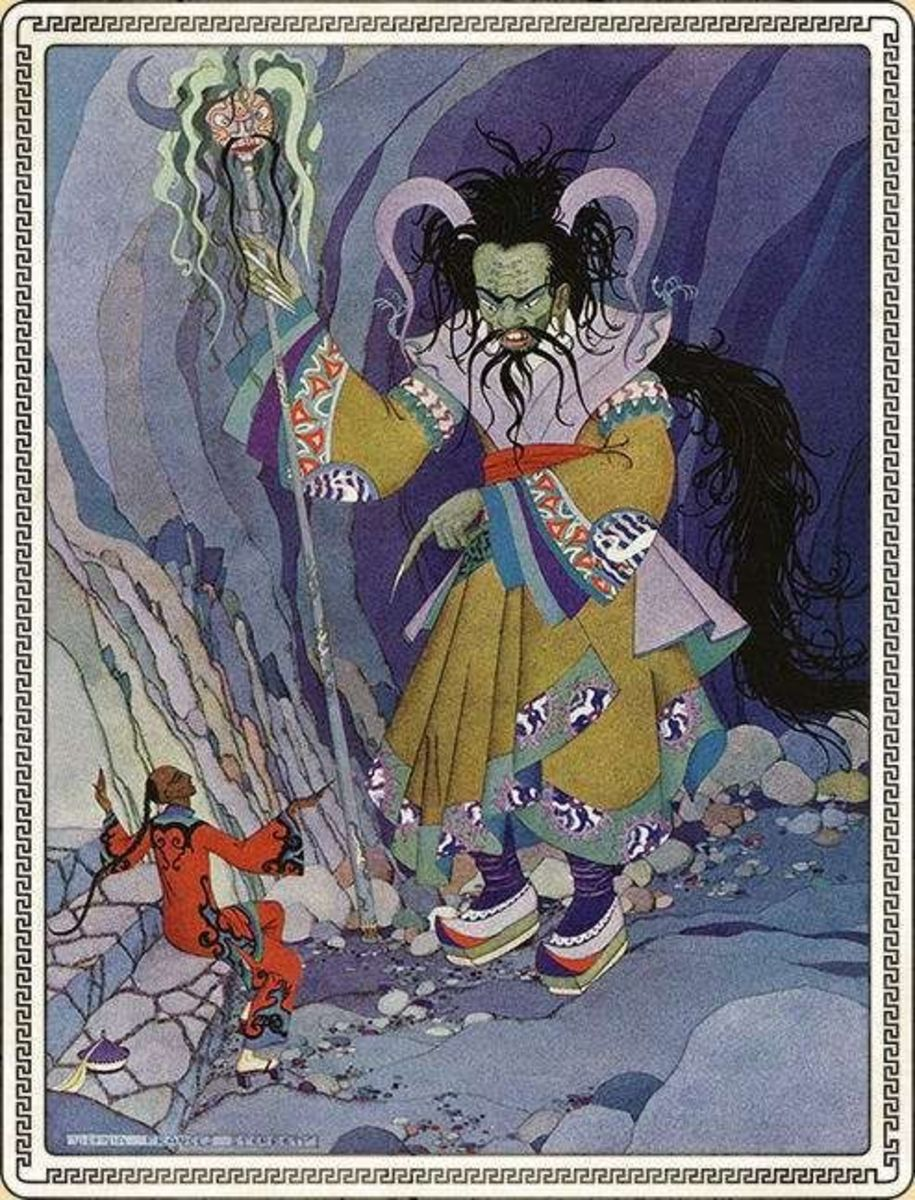 Giant ghosts are important part of Arabian Nights' fairy mythology