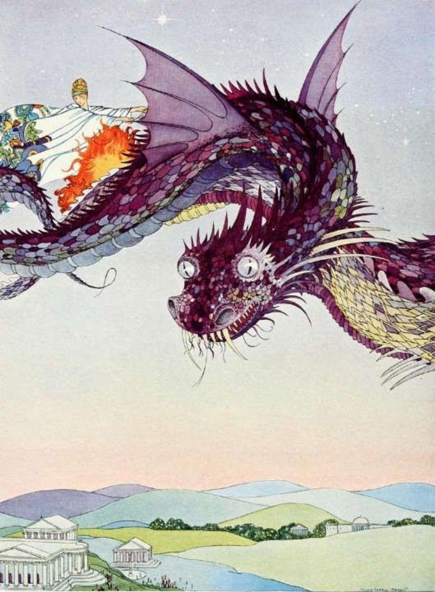 Medea on dragon
