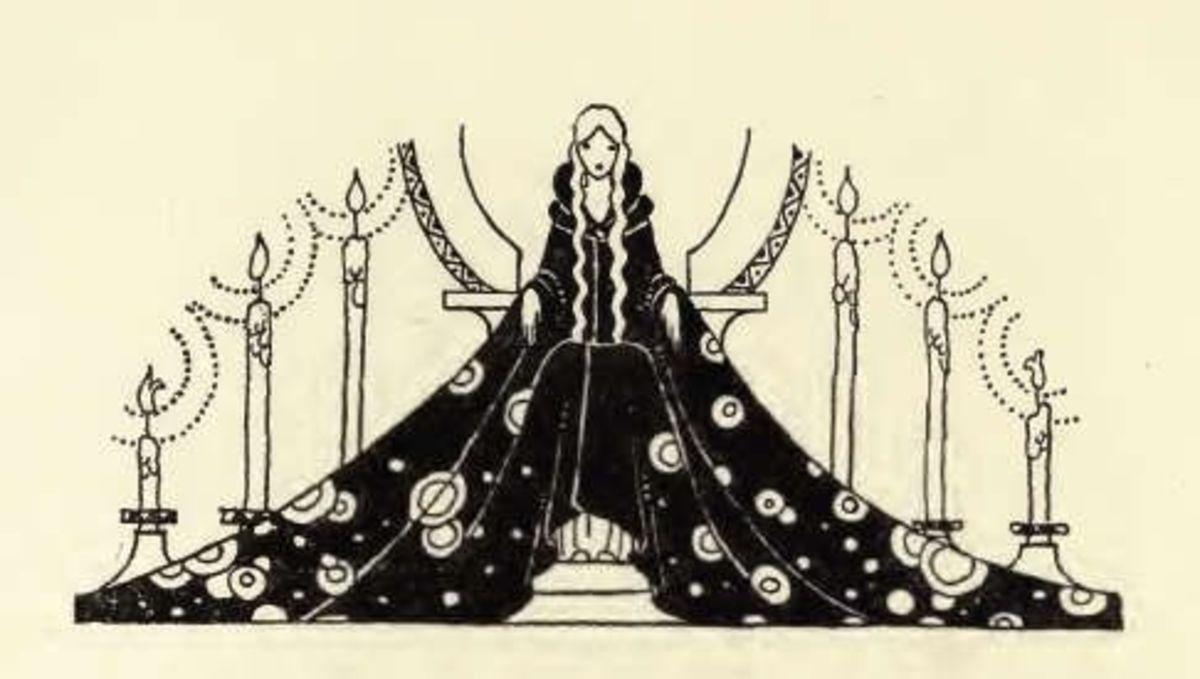 Black and white illustrations nicely showed Sterrett's sense for drama.
