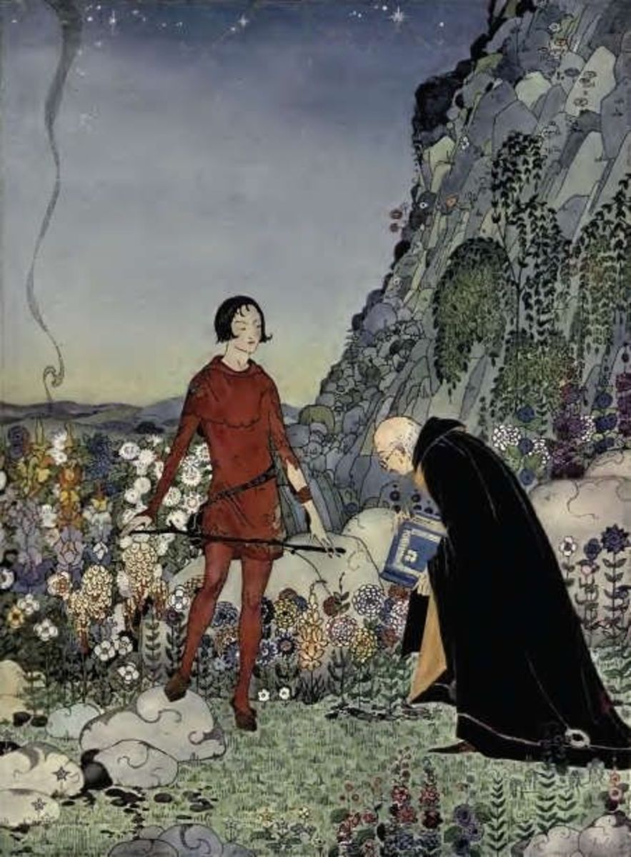 What are you seeking?, another illustration from Old French Fairy Tales