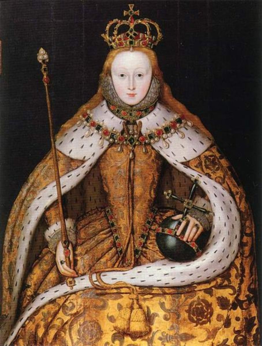 The coronation of Elizabeth I in 1558.
