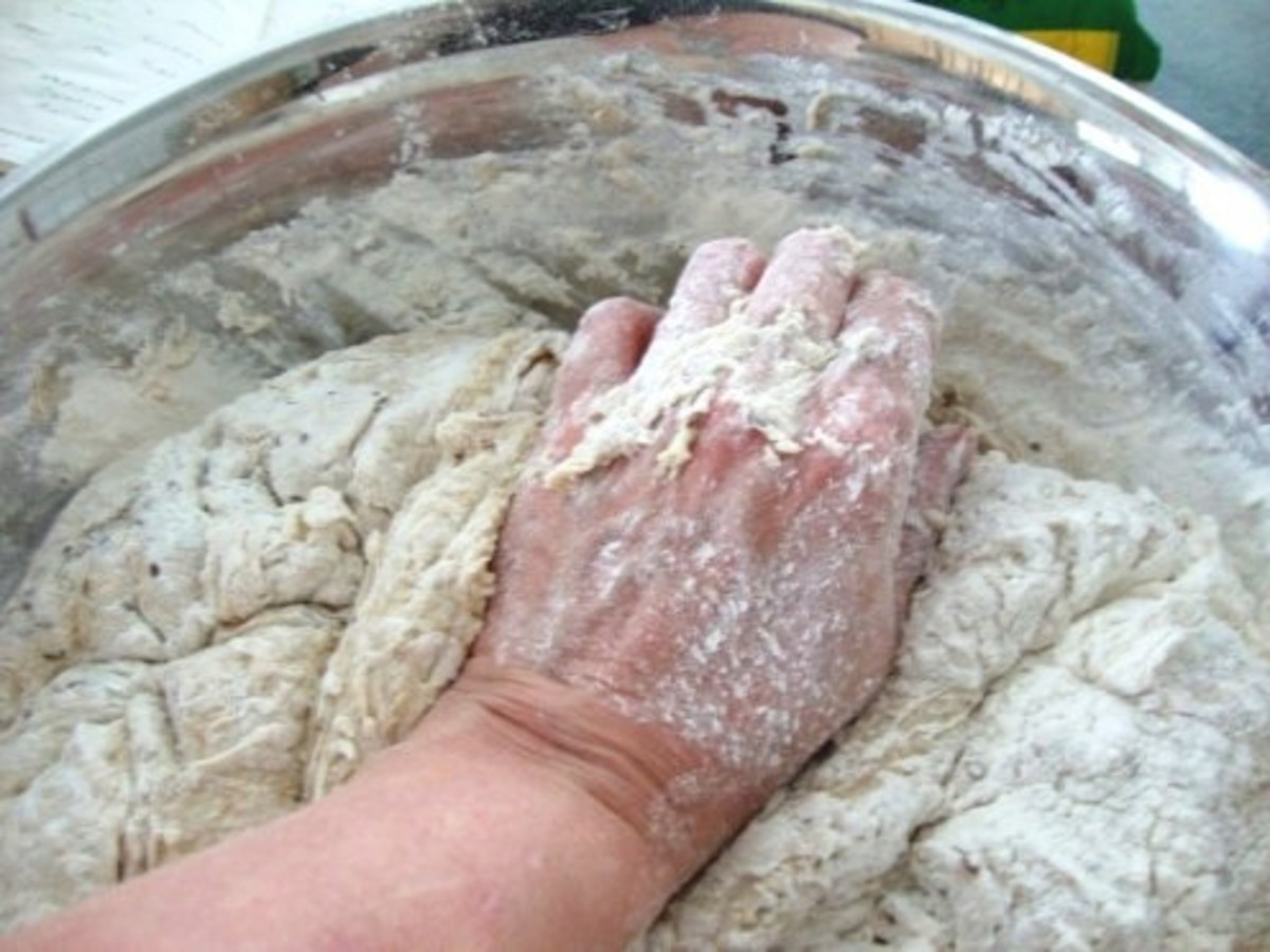 Heeling bread dough