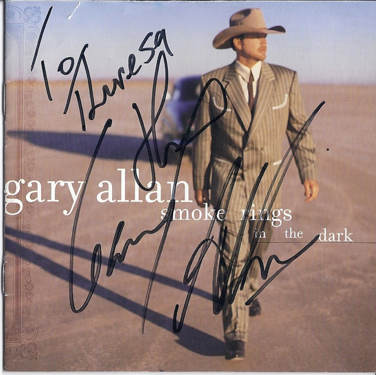 Copy of my autographed CD cover.