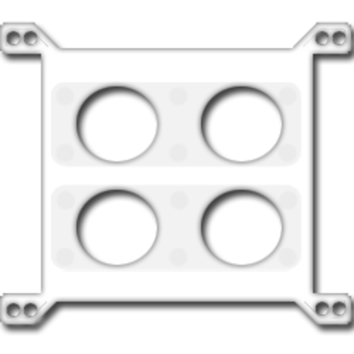 This is an artist's rendering of a restrictor plate.