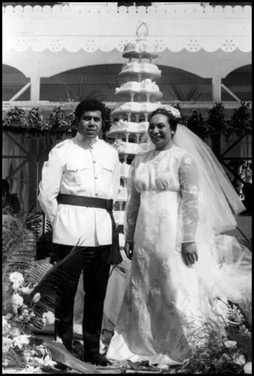 Here is the same couple dress in their Western style wedding clothes.