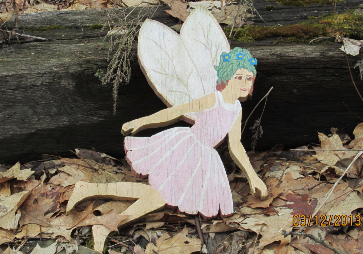 Raspberry Patch Fairy made by my Mom a long time ago.