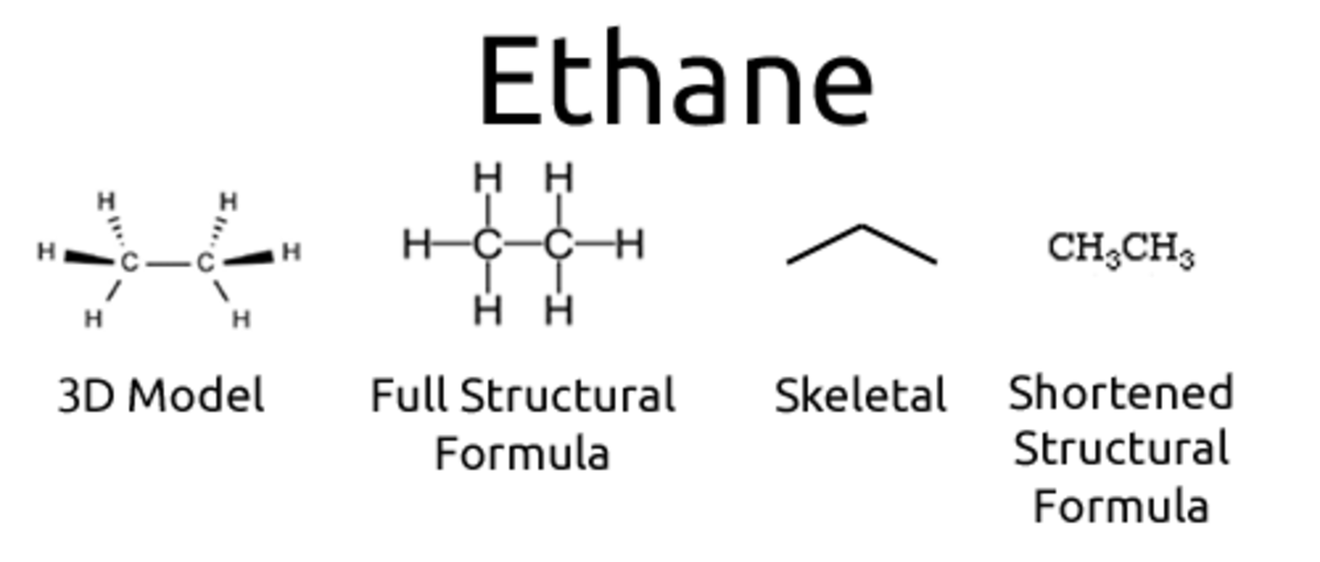 an example of a couple of formulas for ethane