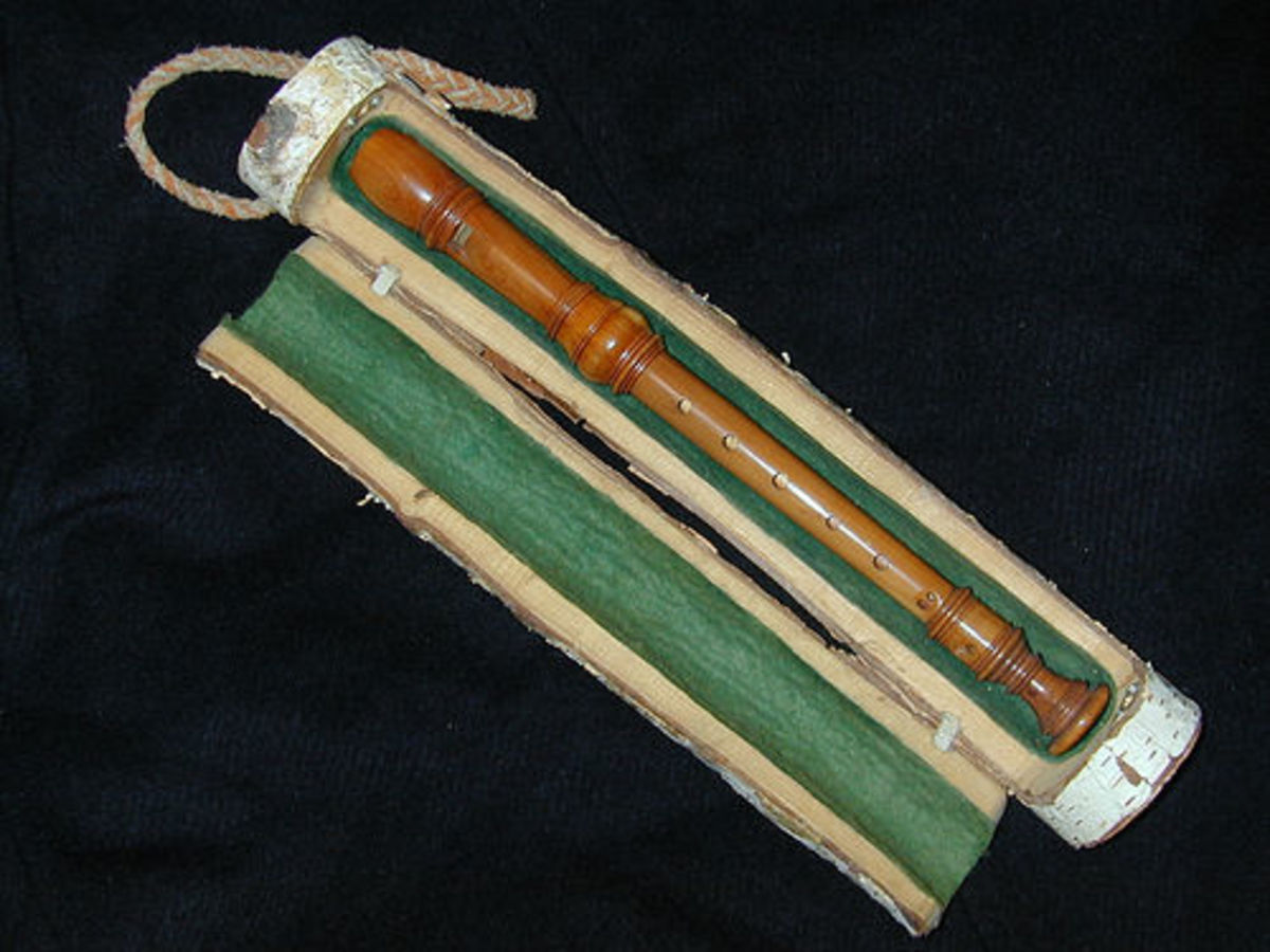 As the man built his home, he cut down a tree from the lot and made this recorder for his daughter. How nice!