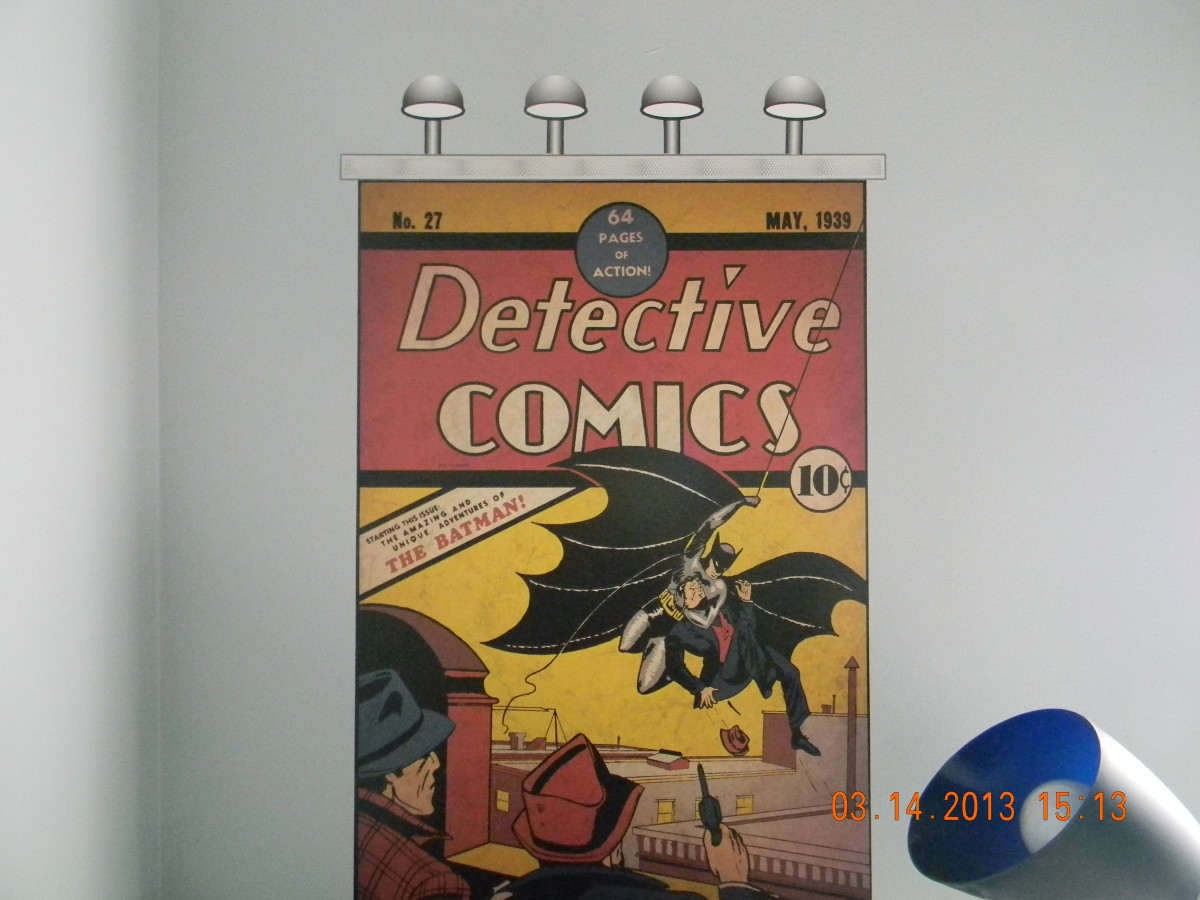 Batman first appeared in Detective Comics #27 in May, 1939. Now he can appear in this bedroom makeover for your very own Bat-Fan.
