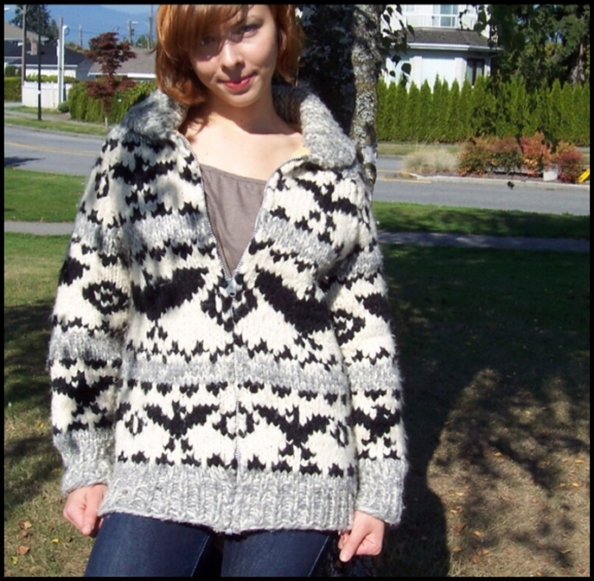 Cowichan sweaters are distinctive-looking and extremely warm and durable.