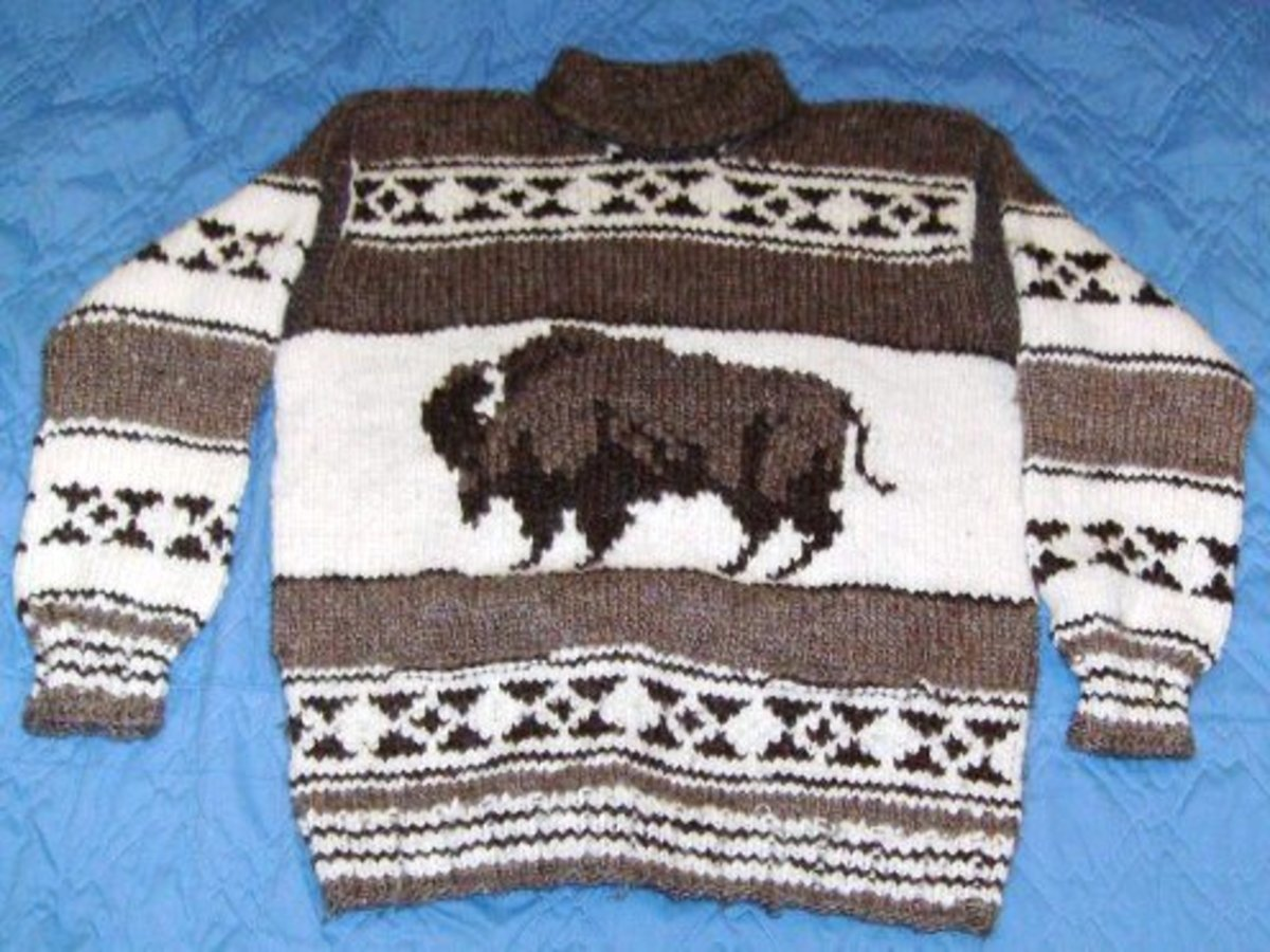 Photo: Traditional Cowichan Sweater