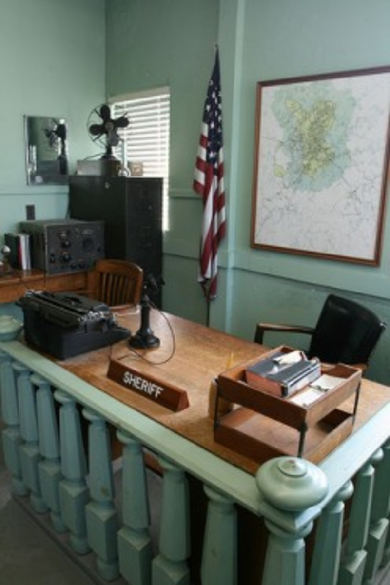 Andy's sheriff's office maintained in Mt Airy as a museum exhibit.