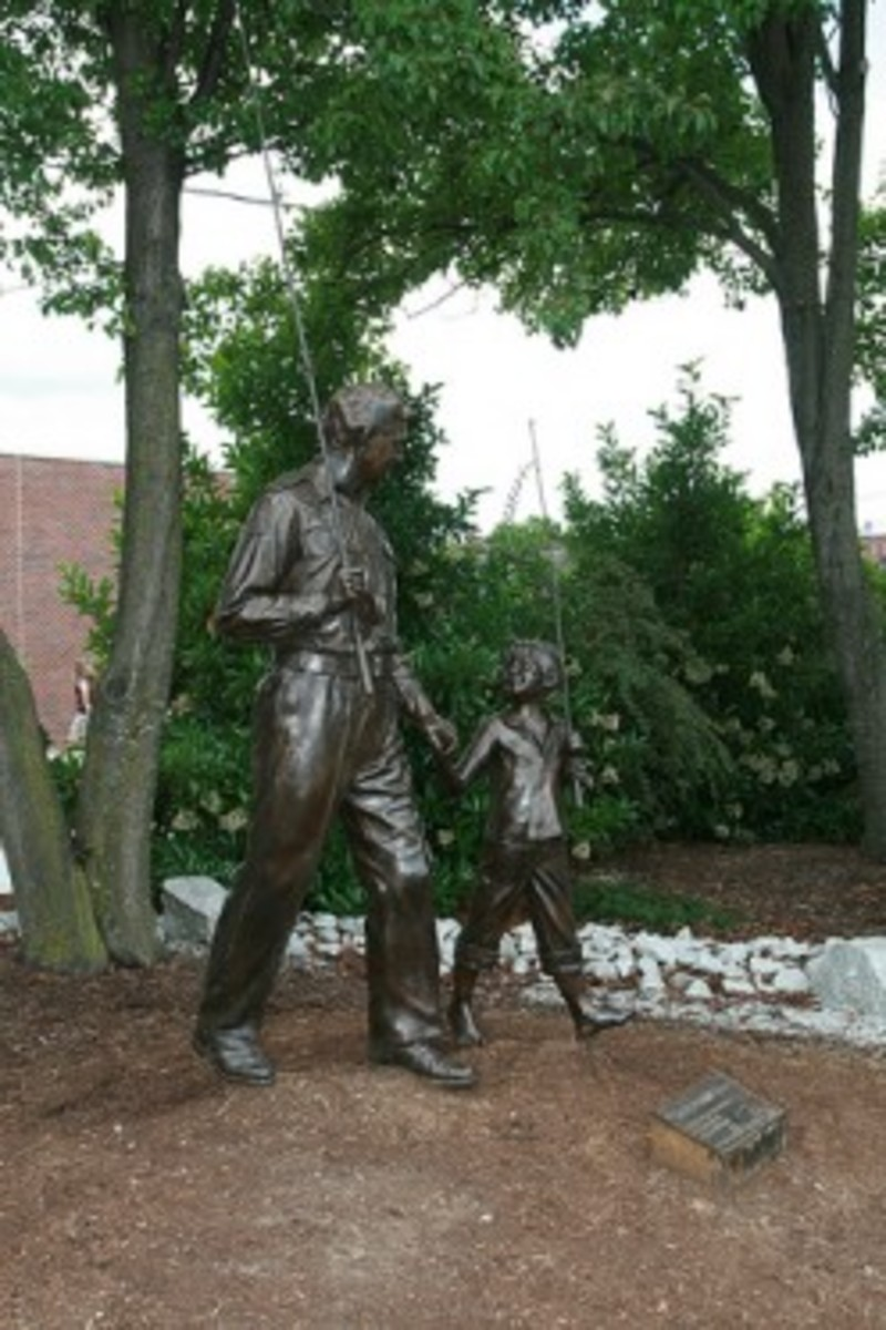 Statue presented by TVLAND to honor The Andy Griffith Show.