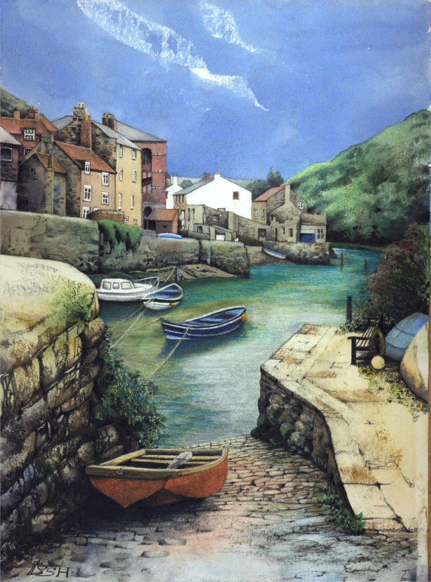 """Staithes Beck Slipway"" by Helen Lush"
