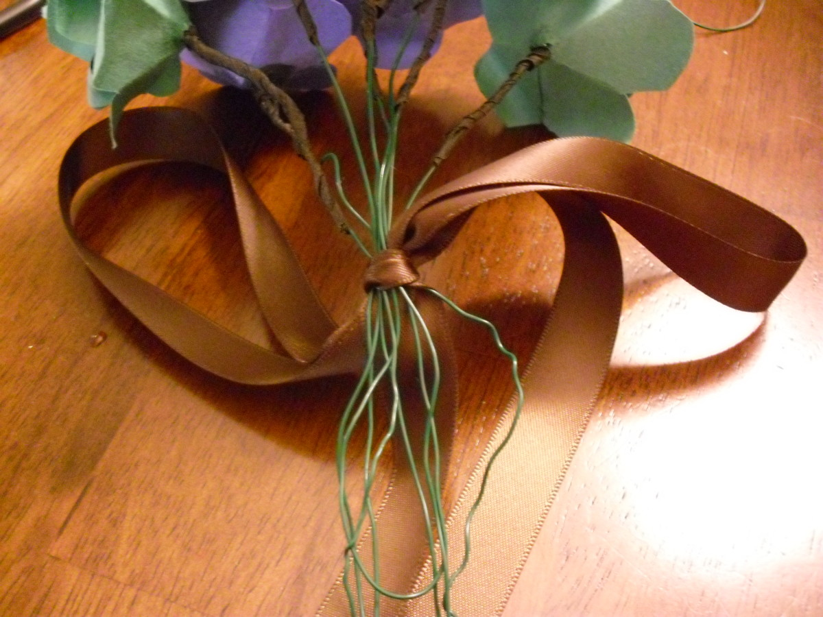 You can secure your stems with floral tape or ribbon.