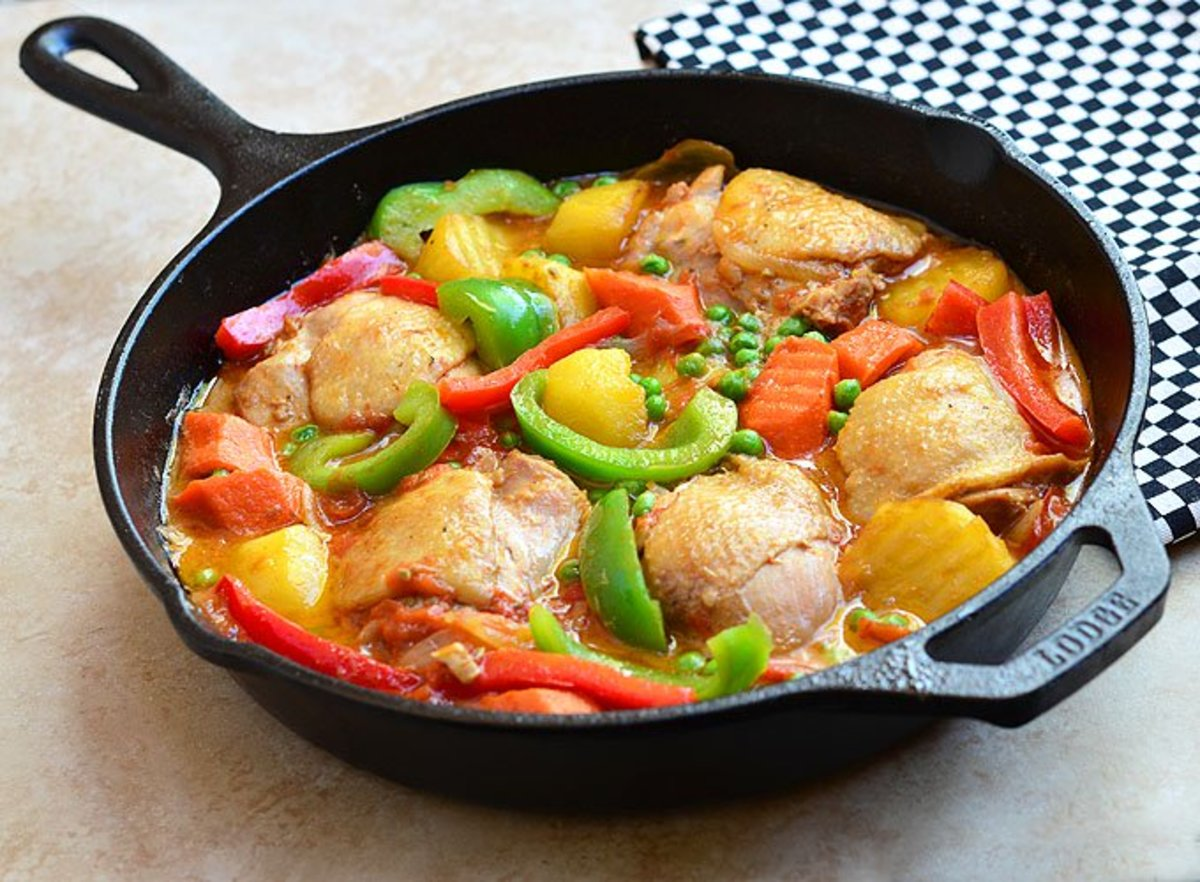 Chicken afritada.
