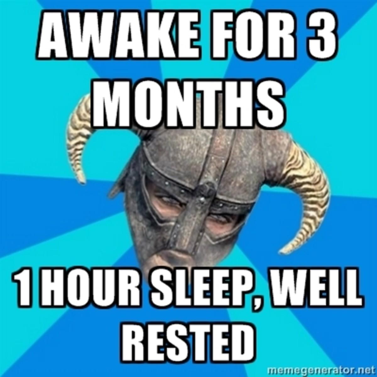 Dragonborns don't need sleep