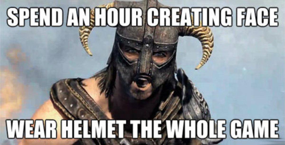 Helmets, the bane of custom character creation