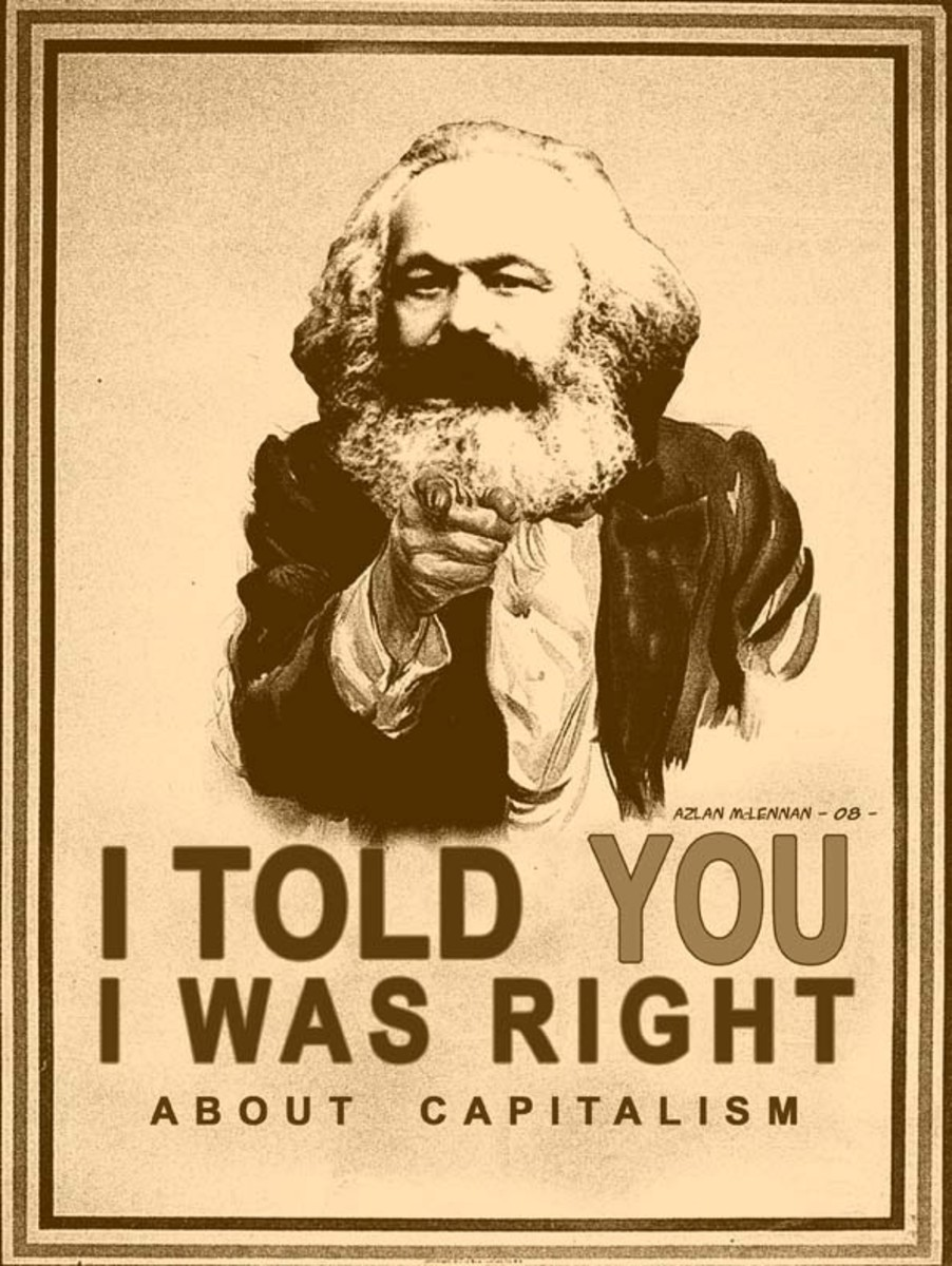 Many people are pointing out today, that what is happening now, was predicted by Karl Marx, back in the 19th century.