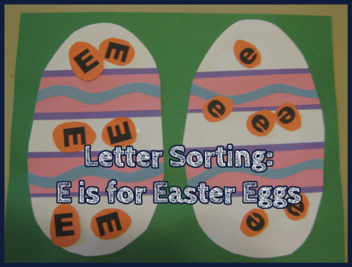 Letter Sorting E is for Easter Eggs Alphabet Activities for Kids