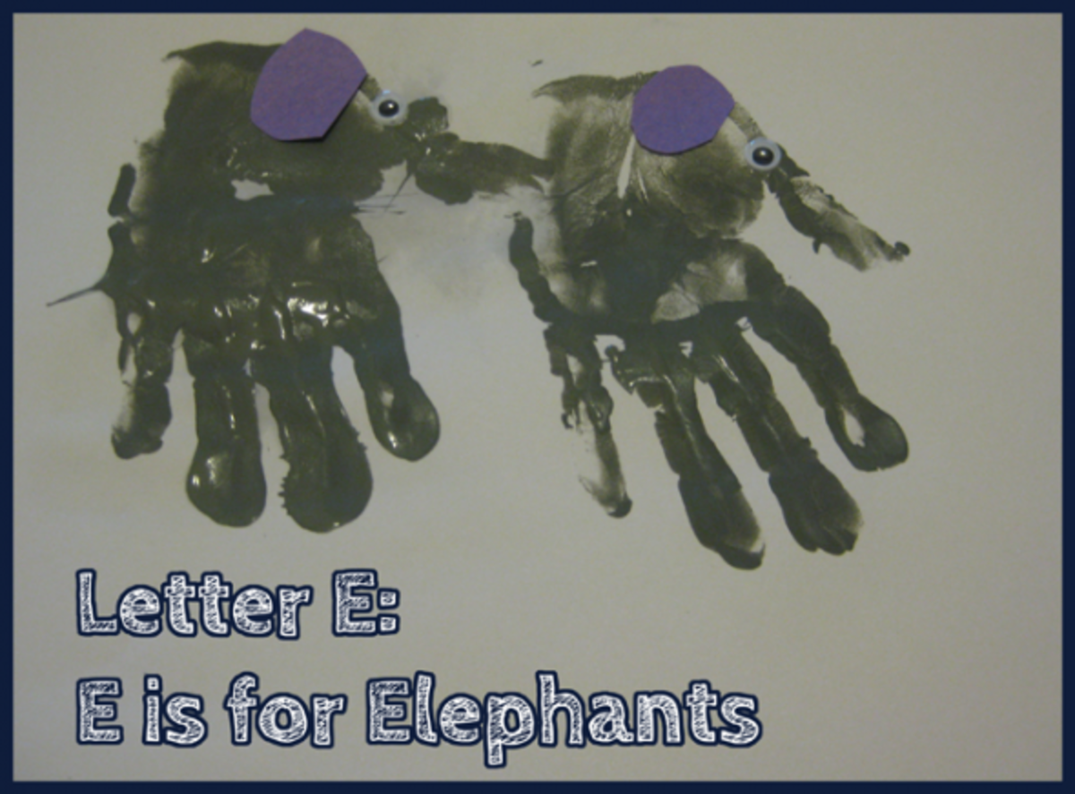 E is for Elephants Alphabet Activities for Kids