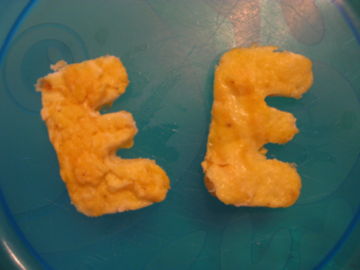 E is for Eggs ... Scrambled and Cheesy!