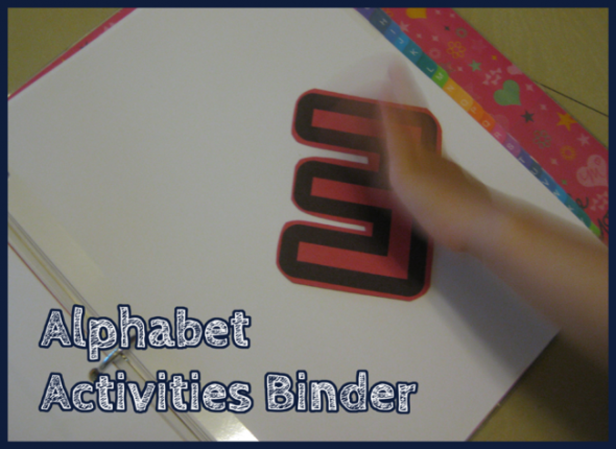 Letter E Alphabet Activities Binder