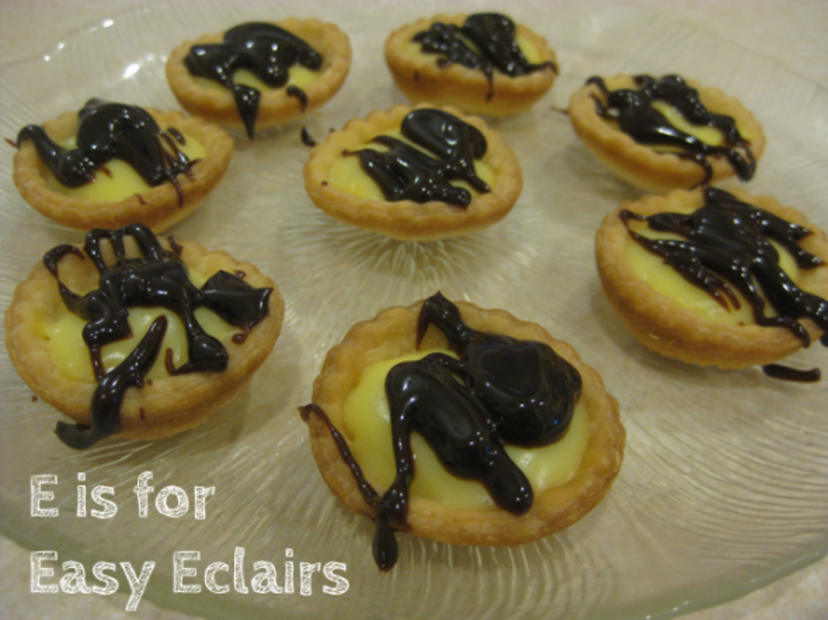 The finished Mini Easy Eclair Cups!