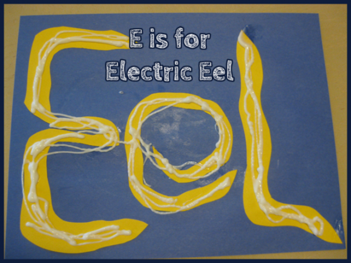 E is for Electric Eel Alphabet Activities for Kids