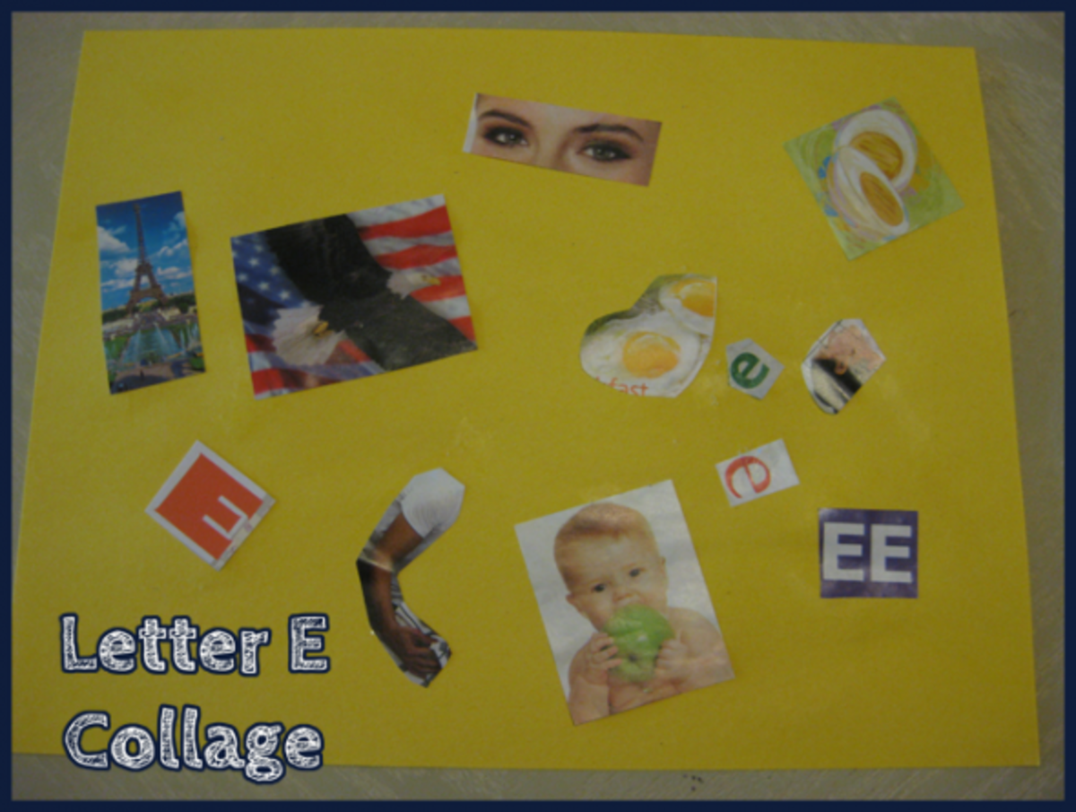 Alphabet Activities Letter E Collage