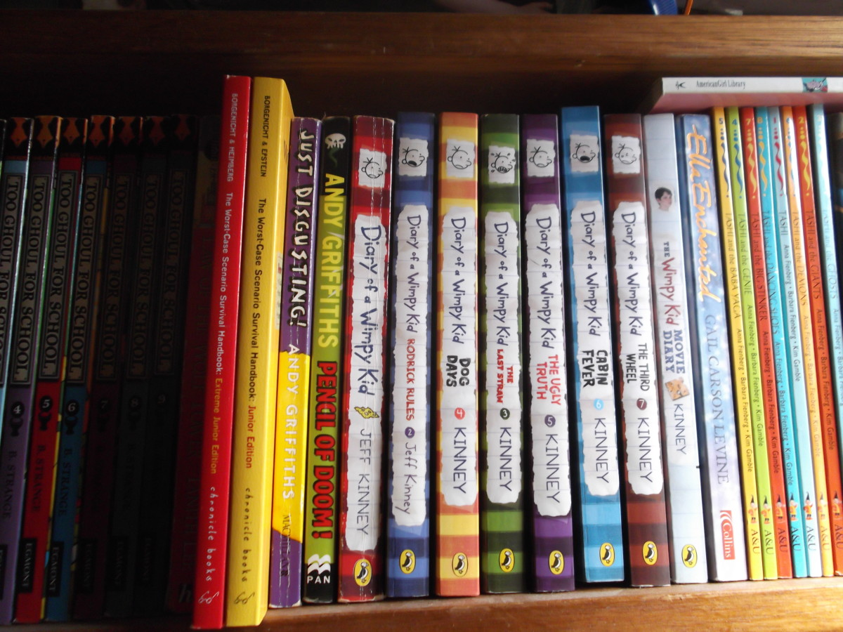 Diary of a Wimpy Kid books are great for boys and girls about 10 years old.