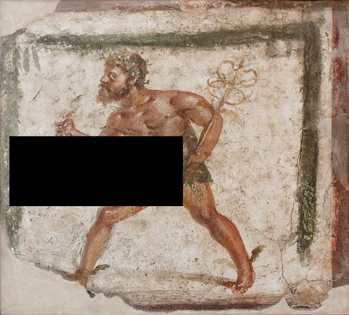 This is Priapus - An extremely over endowed and likely frustrated Roman God. Believers used to rub him for luck - seriously.