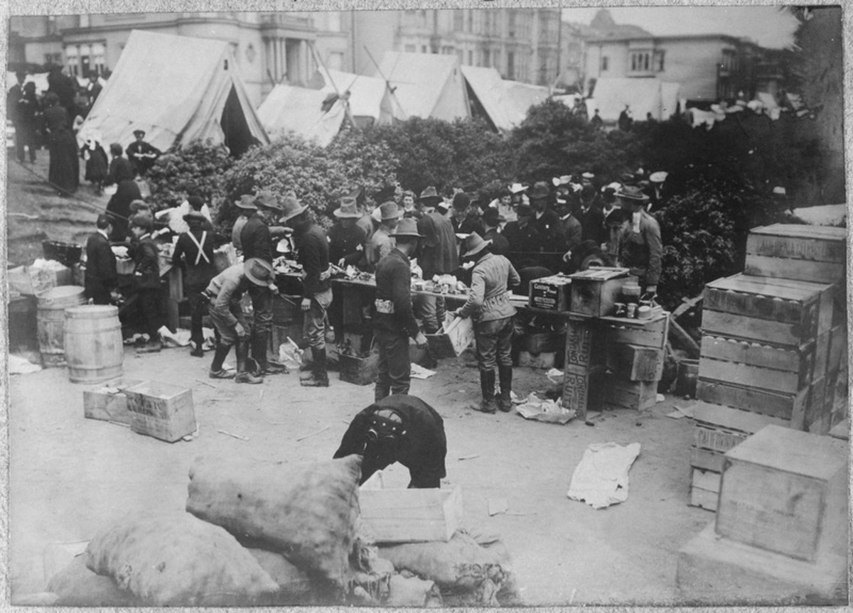San Francisco Earthquake of 1906, Giving out supplies